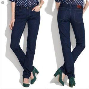Madewell Rail Straight jeans.